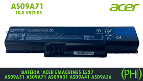 BATERIA ACER EMACHINES AS09A71  10.8 VOLTIOS