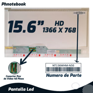 PANTALLA LED 15.6″ 40 PINES
