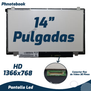 PANTALLA LED SLIM 14″ 30 PINES  (1366×768)   B140XTN03.2