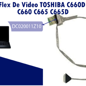 FLEX DE  VIDEO TOSHIBA C660D C665D C660 C665   DC020011Z10