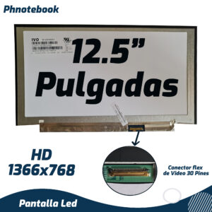 PANTALLA LED SLIM 12.5″ DE 30 PINES M125NWN1  (1366×768)