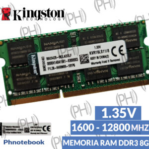 Laptop Memoria Ram DDR3 8GB